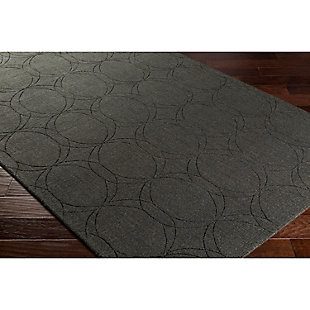 Home Accents Ashlee 2' x 3' Area Rug, Black, rollover