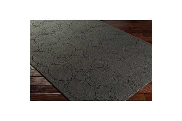 Home Accents Ashlee 2' x 3' Area Rug, Black, large