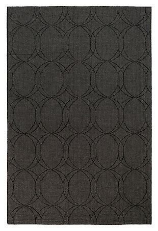 "Home Accents Ashlee 5' x 7' 6"" Area Rug, Black, large"