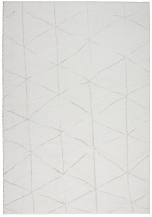 Nourison Home Ingenue White 5' x 7' Area Rug, Ivory, large