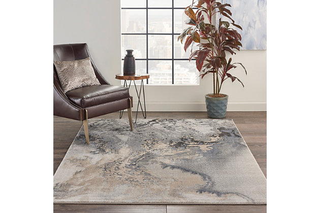 Nourison Maxell 6' X 9' Area Rug, Gray, large