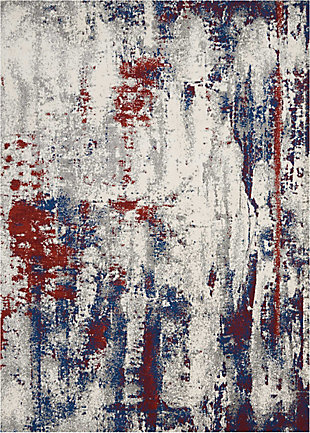 Nourison Maxell Red and Blue 5' x 7' Area Rug, Multi, large
