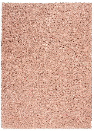 Nourison Malibu Shag 5' x 7' Area Rug, Blush, large