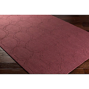 Home Accents Ashlee 2' x 3' Area Rug, Burgundy, rollover