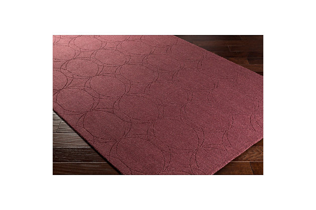 Home Accents Ashlee 2' x 3' Area Rug, Burgundy, large