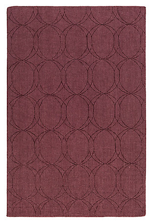 "Home Accents Ashlee 5' x 7' 6"" Area Rug, Burgundy, large"