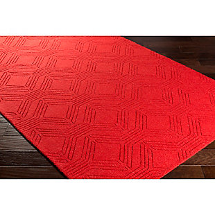Home Accents Ashlee 2' x 3' Area Rug, Red, rollover
