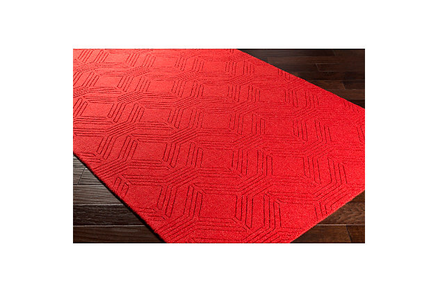 "Home Accents Ashlee 5' x 7' 6"" Area Rug, Red, large"