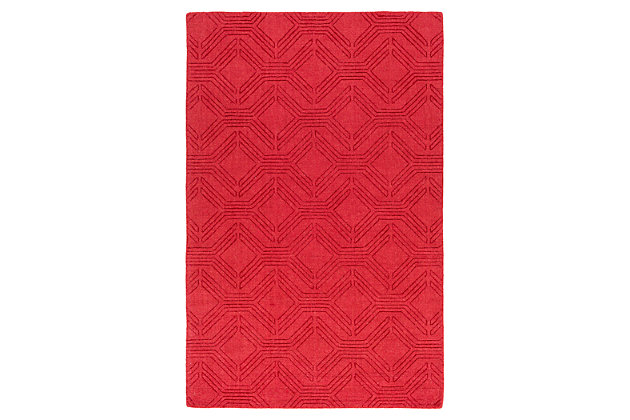 Home Accents Ashlee 2' x 3' Area Rug, Red, large