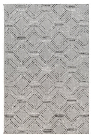"Home Accents Ashlee 5' x 7' 6"" Area Rug, Gray, large"