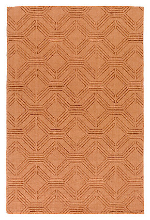 "Home Accents Ashlee 5' x 7' 6"" Area Rug, Burnt Orange, large"