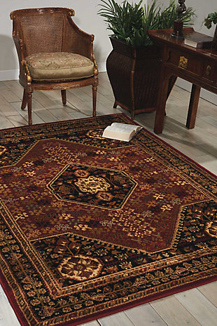 Nourison Paramount Red 5' x 7' Area Rug, Red, rollover