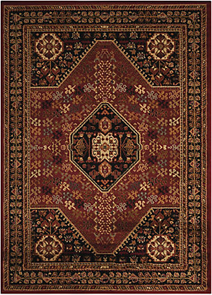 Nourison Paramount Red 5' x 7' Area Rug, Red, large