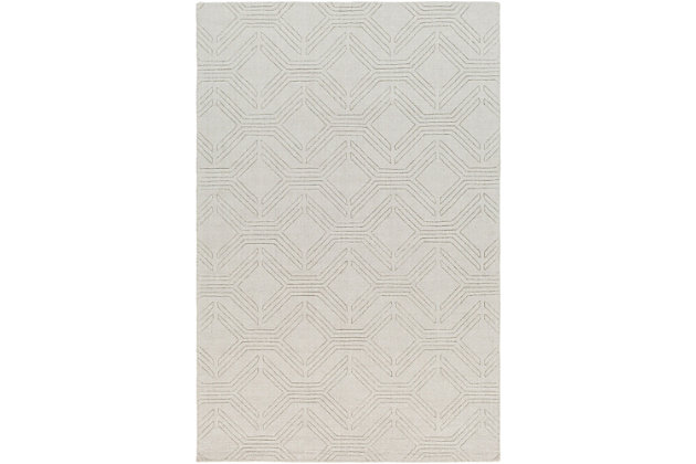 Home Accents Ashlee 2' x 3' Area Rug, Beige, large