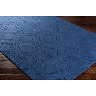 "Home Accents Ashlee 5' x 7' 6"" Area Rug, Navy, rollover"