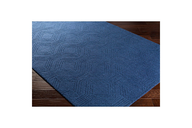 "Home Accents Ashlee 5' x 7' 6"" Area Rug, Navy, large"