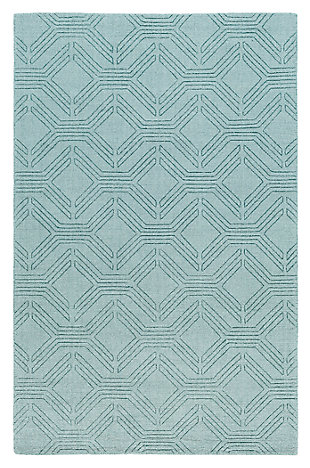 Home Accents Ashlee 8' x 10' Area Rug, Aqua, large