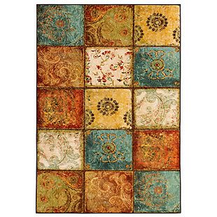 Mohawk Artifact Panel Multi 5' x 7' Area Rug, Multi, large