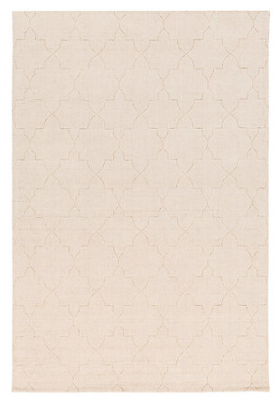 Home Accents Ashlee 8' x 10' Area Rug, Cream, large