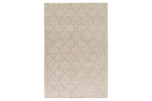 "Home Accents Ashlee 5' x 7' 6"" Area Rug, Beige, large"