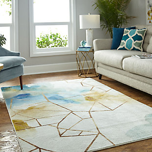 Mohawk Illusion Water 5' x 8' Area Rug, Multi, rollover