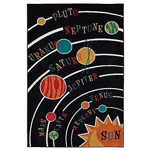 Mohawk Solar System Black 5' x 8' Area Rug, Black, large