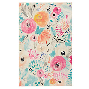 Mohawk Watercolor Floral Multi 5' x 8' Area Rug, Multi, large