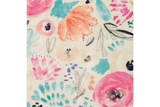Mohawk Watercolor Floral Multi 5' x 8' Area Rug, Multi, large