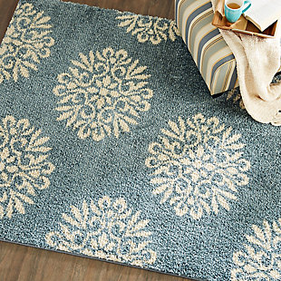 Mohawk Exploded Medallions Bay Blue 5' x 7' Area Rug, Blue, rollover