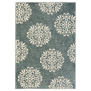 Mohawk Exploded Medallions Bay Blue 5' x 7' Area Rug, Blue, large