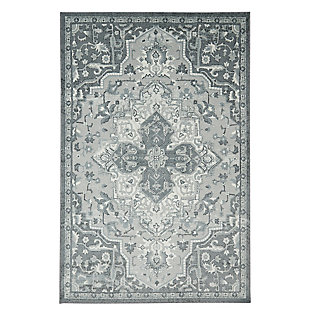Mohawk Emiko Grey 5' x 8' Area Rug, Gray, large