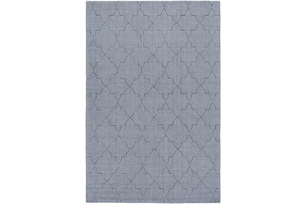 "Home Accents Ashlee 5' x 7' 6"" Area Rug, Denim, large"