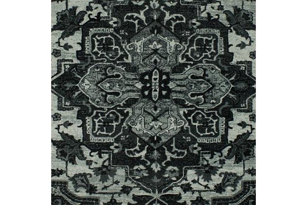 Mohawk Emiko Black 2' x 6' Runner, Black, large