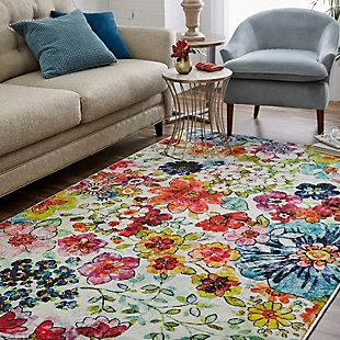 Mohawk Blossoms Rainbow 5' x 8' Area Rug, Multi, rollover