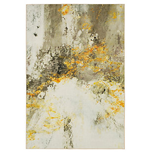 Mohawk Gold Vein Grey 5' x 8' Area Rug, Cream, large