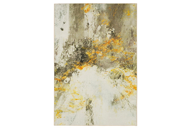 Mohawk Gold Vein Grey 5' x 8' Area Rug, Cream, large