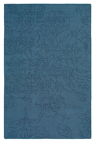 Home Accents Ashlee 8' x 10' Area Rug, Denim, large