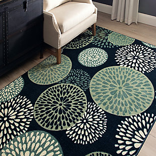 Mohawk Foliage Friends Blue 5' x 8' Area Rug, Blue, rollover