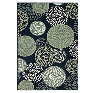 Mohawk Foliage Friends Blue 5' x 8' Area Rug, Blue, large