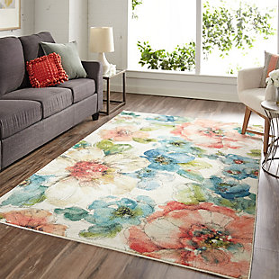 Mohawk Summer Bloom Garden 5' x 8' Area Rug, Multi, rollover