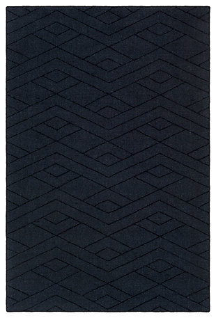 Home Accents Ashlee 2' x 3' Area Rug, Navy, large
