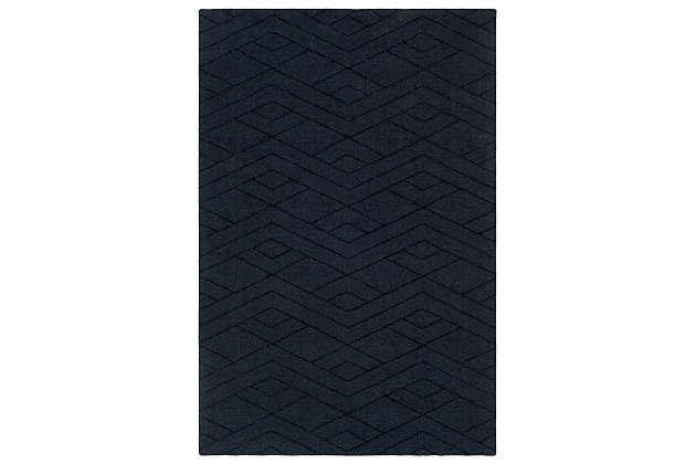 Home Accents Ashlee Area Rug, Navy, large