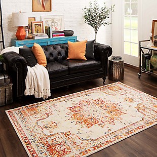 Mohawk Empearal Red 5' x 8' Area Rug, Red, rollover