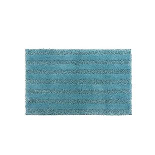 "Mohawk Basic Stripe Bath Rug Arctic Blue (1' 5""x2'), Blue, large"