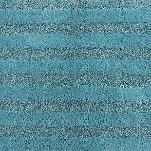 "Mohawk Basic Stripe Bath Rug Arctic Blue (1' 8""x2' 10""), Blue, large"