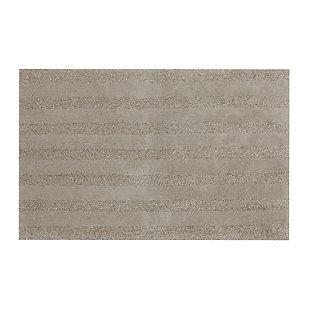 "Mohawk Basic Stripe Bath Rug Coffee (1' 8""x2' 10""), Brown/Beige, large"