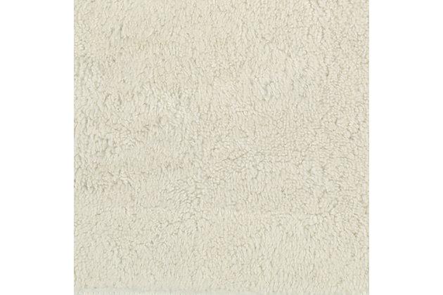 "Mohawk Cascade Bath Rug Vanilla (1' 8""x2' 6""), White, large"