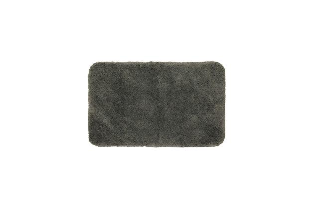 "Mohawk Duo Light Gray (1' 5""x2'), Black/Gray, large"