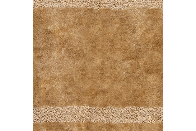 "Mohawk Facet Bath Rug Chocolate (1' 8""x2'), Brown/Beige, large"