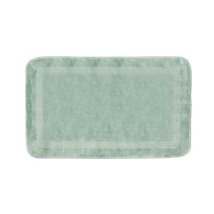 "Mohawk Facet Bath Rug French Blue (1' 8""x2' 10""), Blue, large"